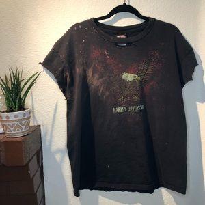 Harley Davidson Destructed Black Reno T-Shirt